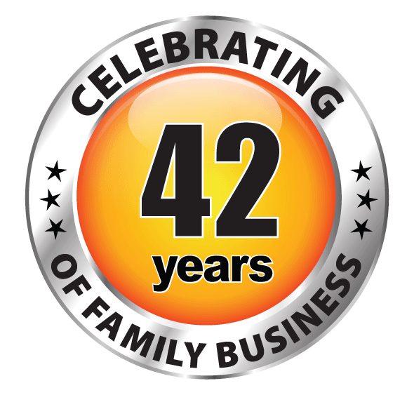 celebrating 42 years of family business
