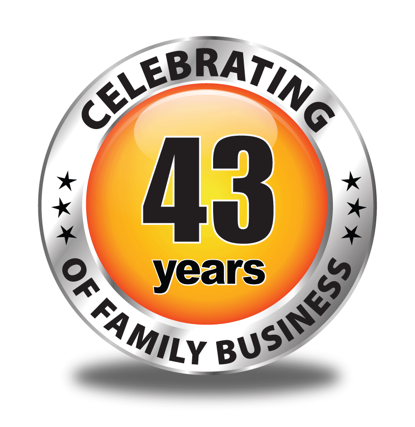 celebrating 43 years of family business
