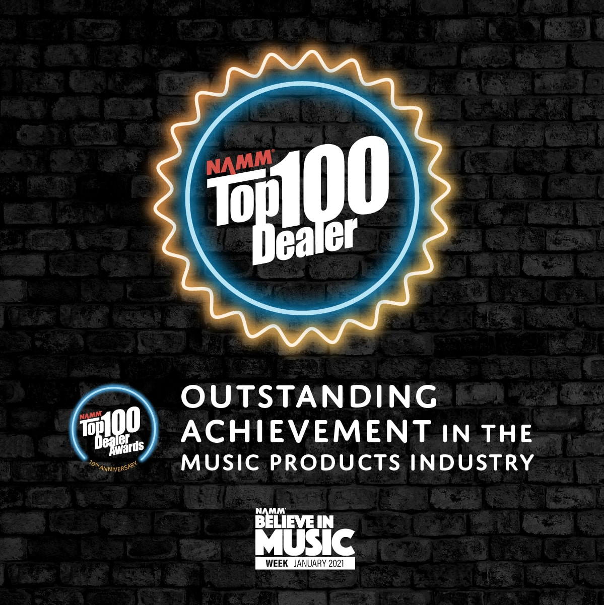 NAMM Top Dealer Award 2020