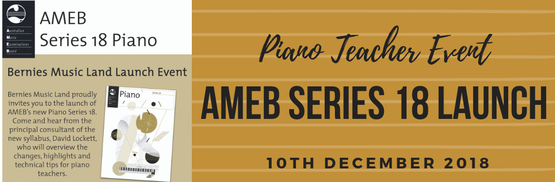 AMEB 18 Series Launch Event
