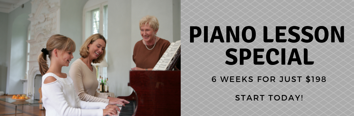 11:30am Piano Lesson Offer - 198$ for 6 lessons